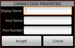 Connection Properties Dialog