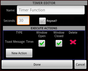 The timer editor dialog.